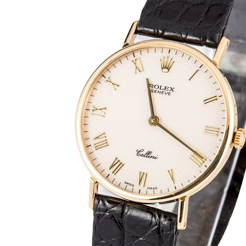 Rolex cellini 18k yellow gold 5512 8 for Rolex cellini