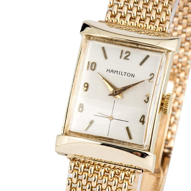 d56ce4b53de Hamilton 14K Vintage Watch 1950 s