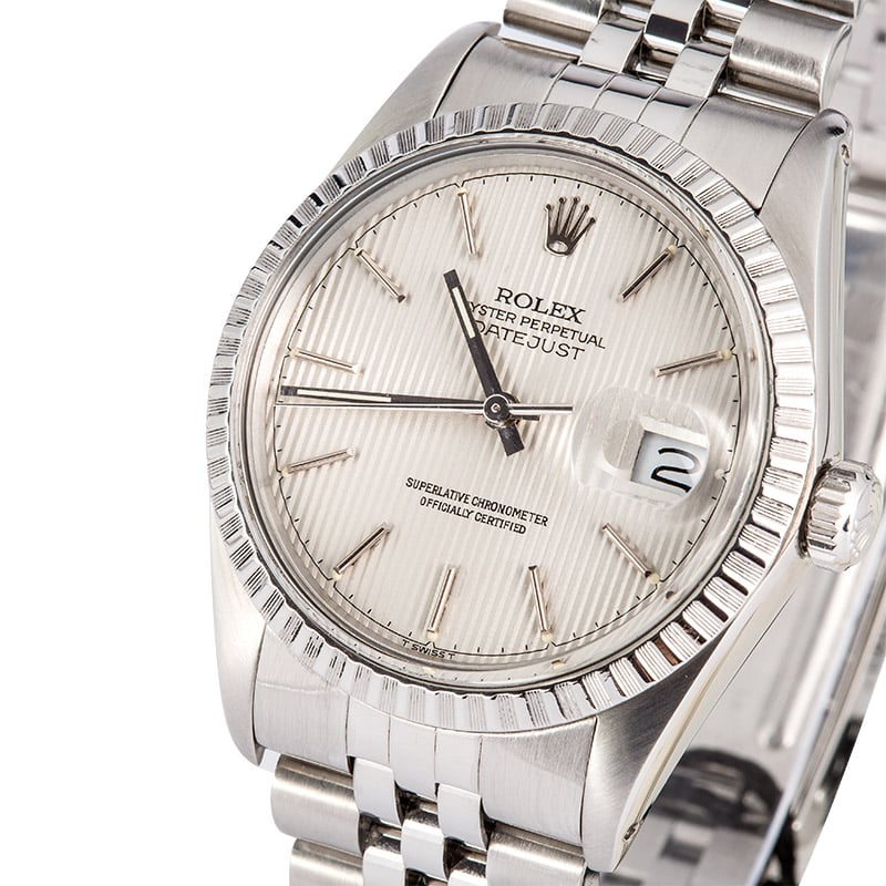 97c080d287d6 Rolex Stainless Datejust 16030 Tapestry Dial