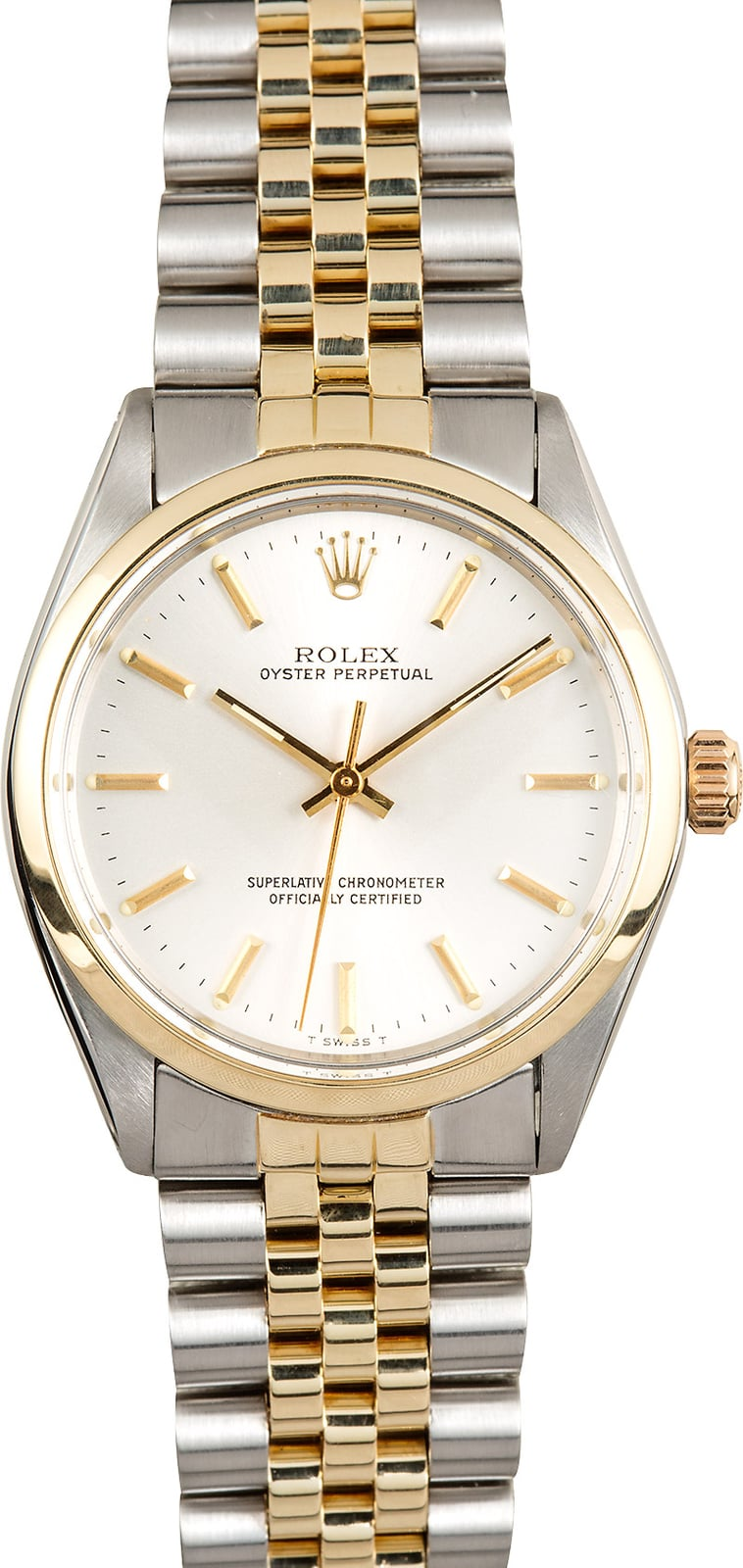 Vintage rolex oyster perpetual 1002 two tone jubilee for Vintage rolex oyster