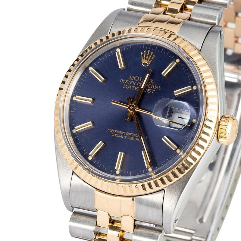 42406f087d8 Rolex Datejust 16013 Two-Tone Blue Dial