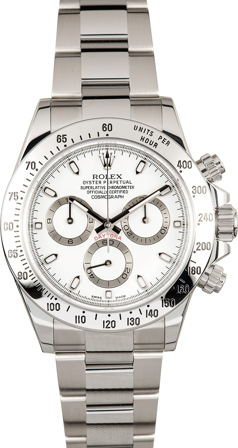Rolex daytona cosmograph 116520 white dial for Rolex cosmograph daytona