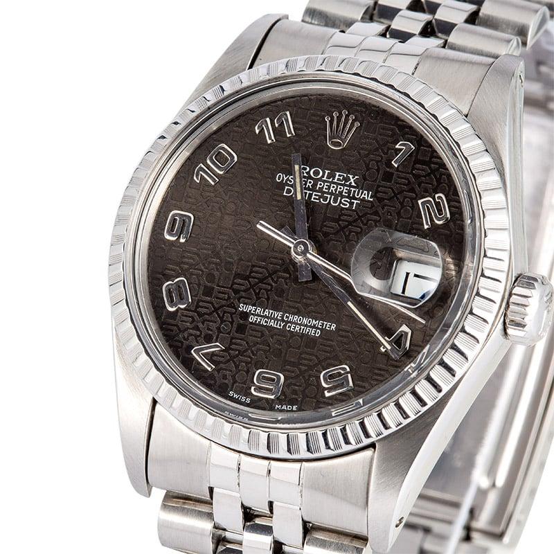 ce728cddc55c Rolex Datejust 16030 Black Jubilee