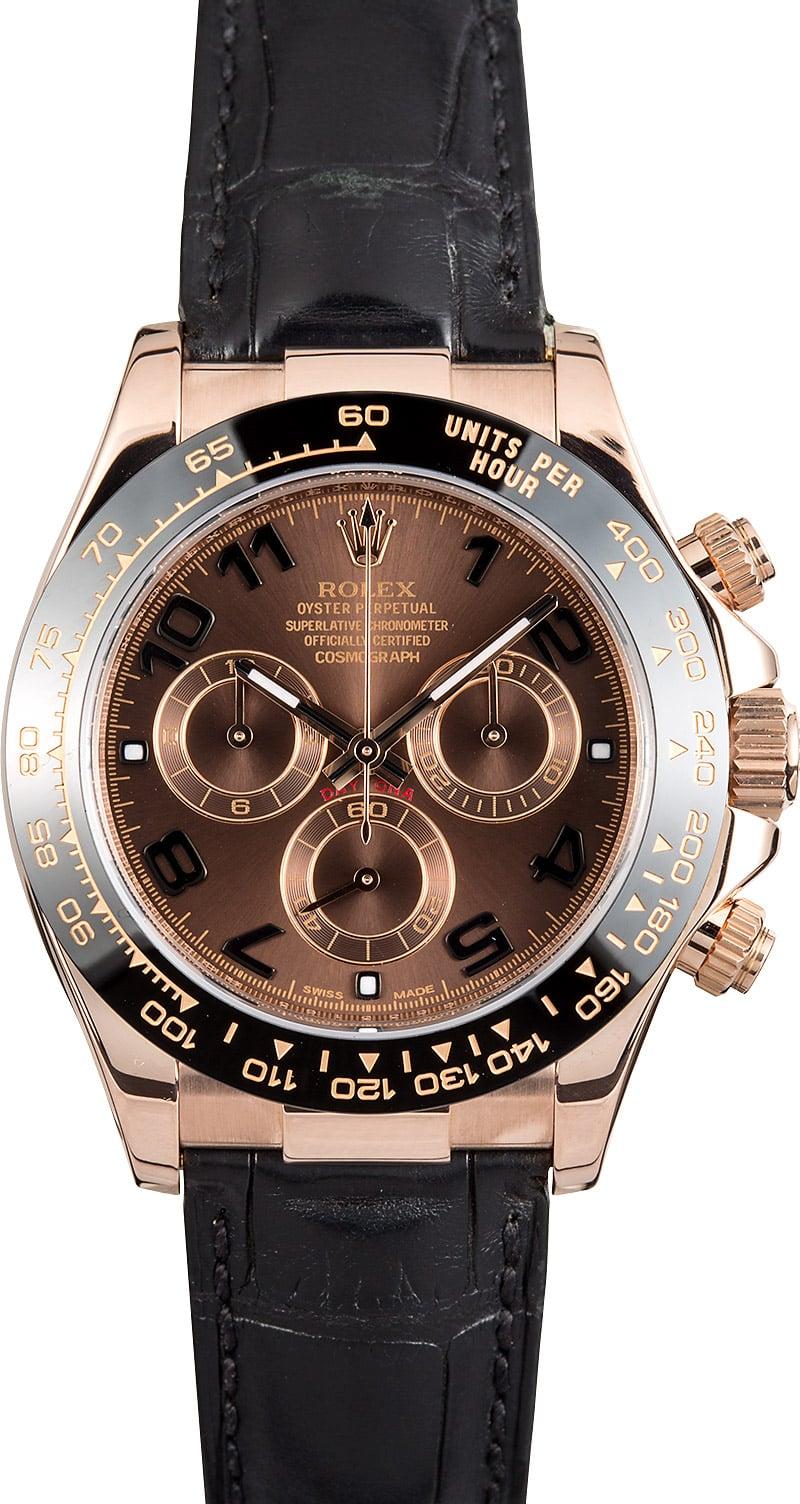 Rolex daytona rose gold buy 100 rolex at bob 39 s and save for Rolex cosmograph daytona