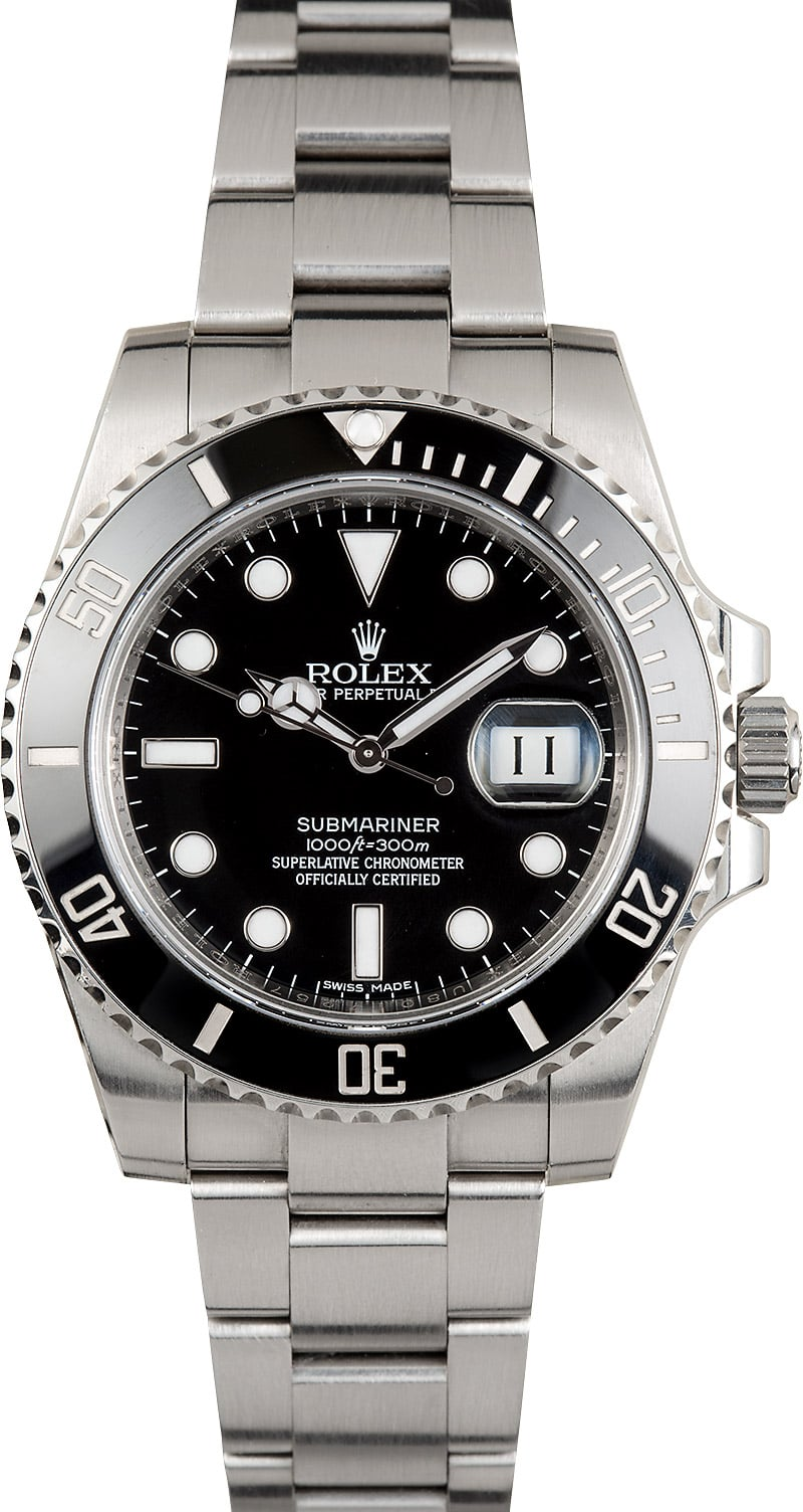 Certified Pre Owned >> Submariner Rolex Model 116610 Ceramic Stainless