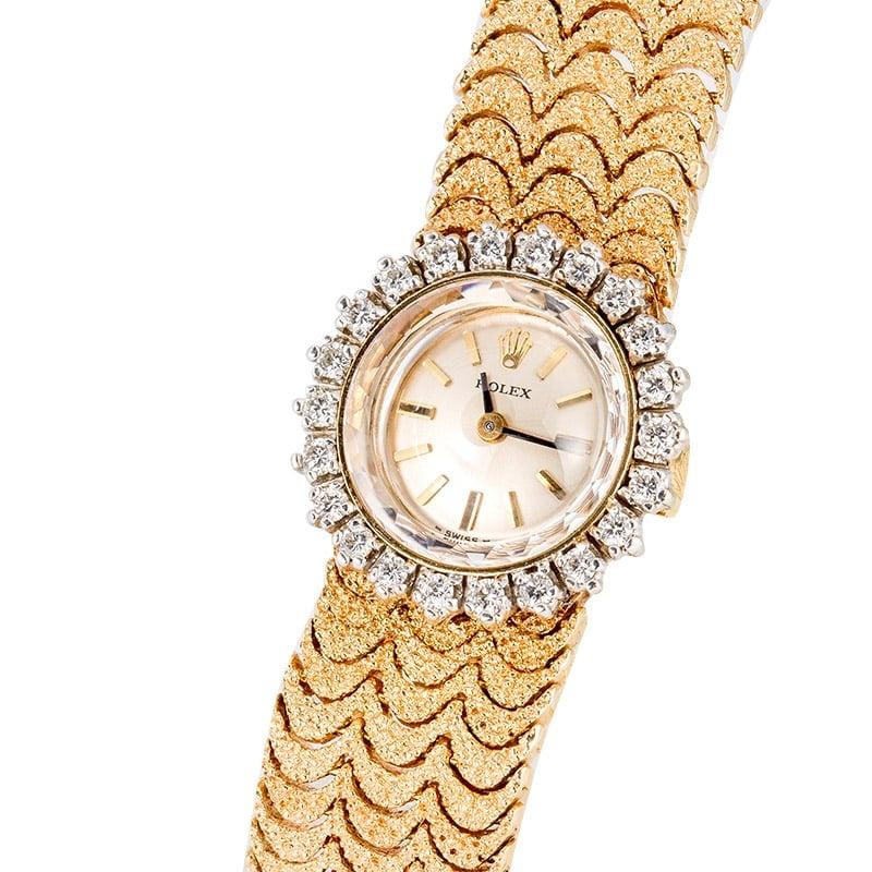 vintage rolex women 39 s diamond cocktail watch. Black Bedroom Furniture Sets. Home Design Ideas