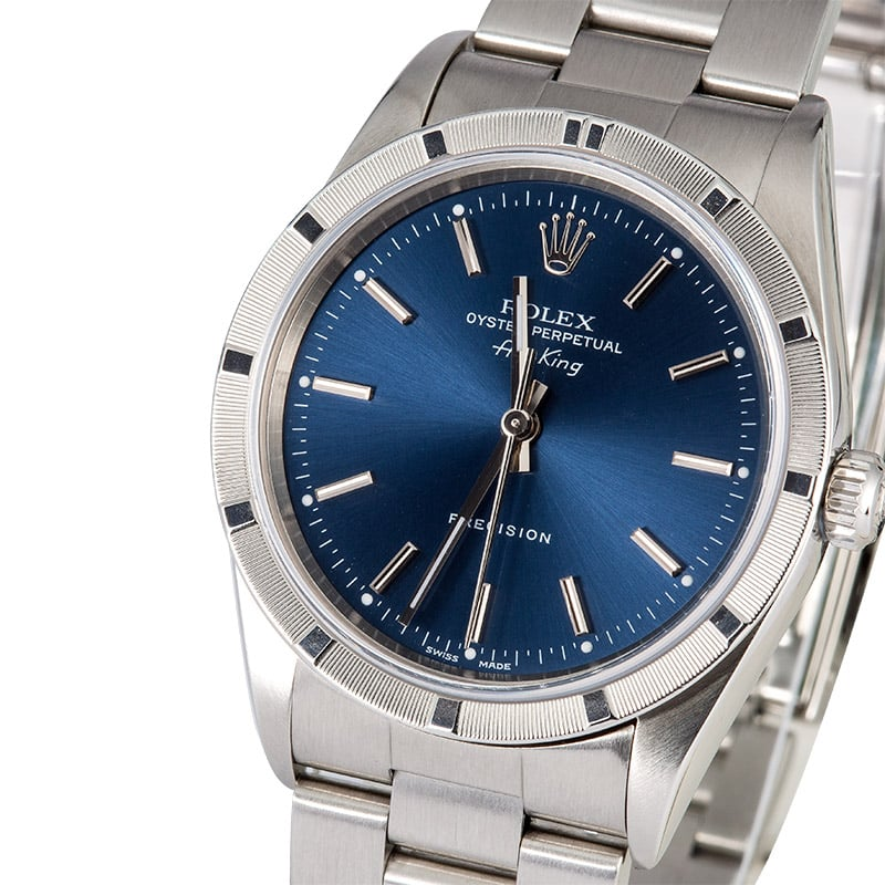 Rolex air king 14010 blue index for Rolex air king