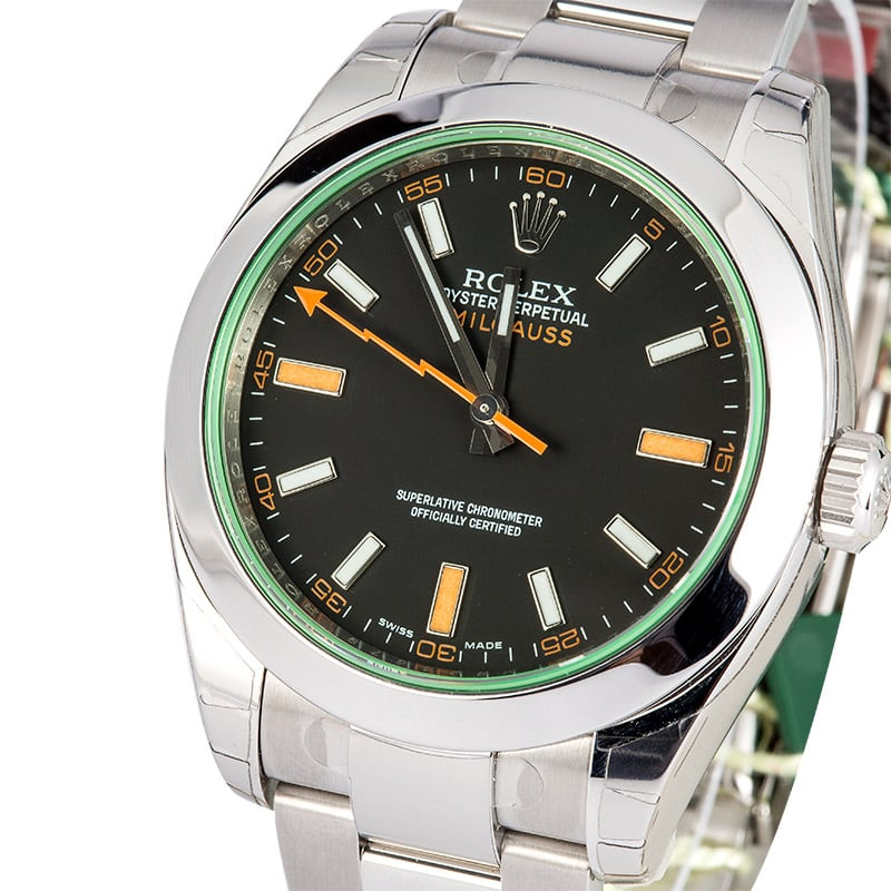 Rolex Milgauss Green Crystal 116400 GV - On Sale Now at ...