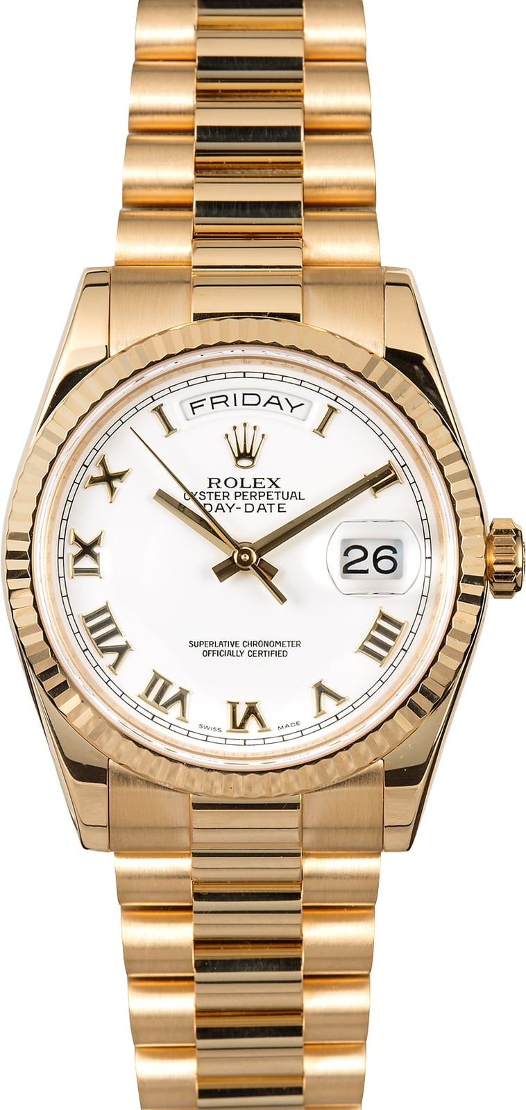 rolex president gold day date 118238