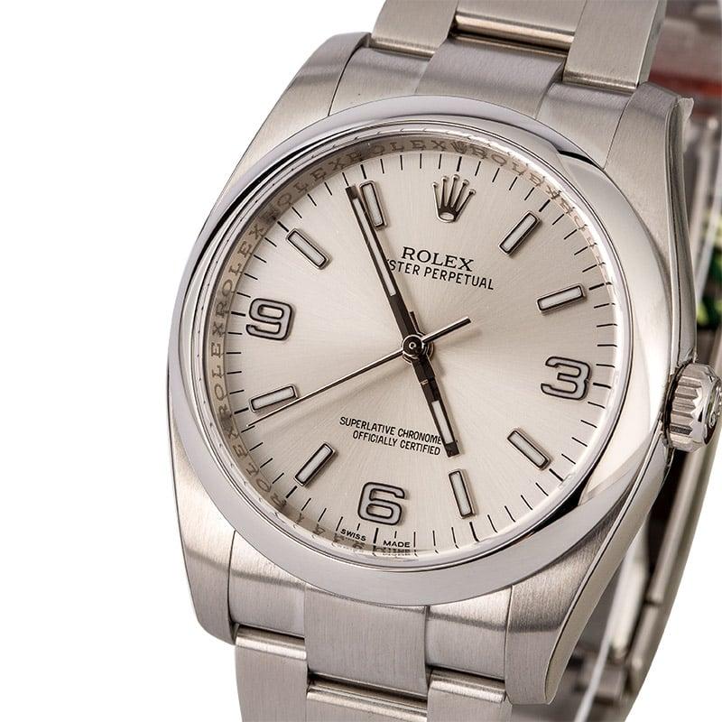 94c104657f7 Unworn Rolex Oyster Perpetual 116000 Silver Dial