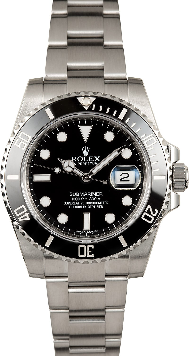 Rolex submariner 116610 black dial for Submarine watches