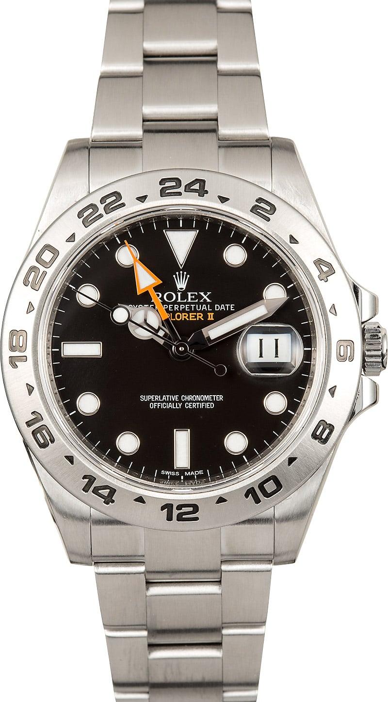 Rolex explorer ii 216570 42mm ships free no sales tax for Rolex explorer