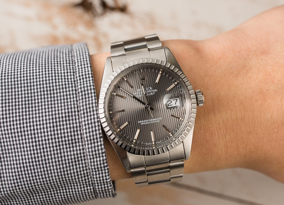 57dcb492d69b6 Rolex Datejust 16030 Slate Tapestry Dial