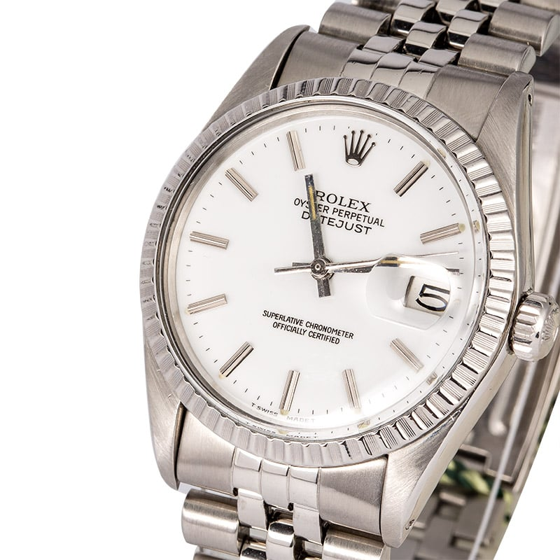 b0f2baa5caa9 Pre-Owned Rolex Datejust 16030 White Dial