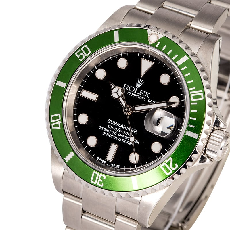 Rolex Submariner Green Anniversary 16610T