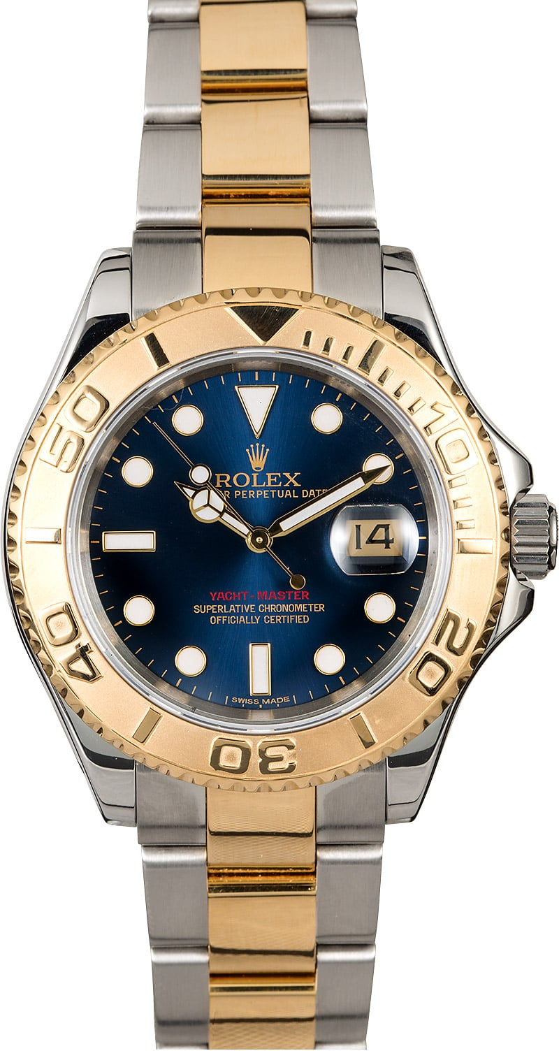 Rolex Yacht,Master 16623 Blue Dial Two Tone Oyster