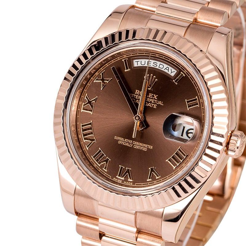 fb5c34ab41e Rolex Day-Date 218235 Everose Gold President