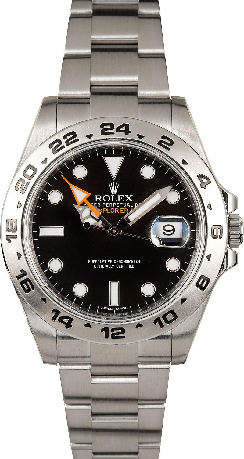 Rolex explorer ii ref 216570 steel oyster men 39 s watch for Rolex explorer