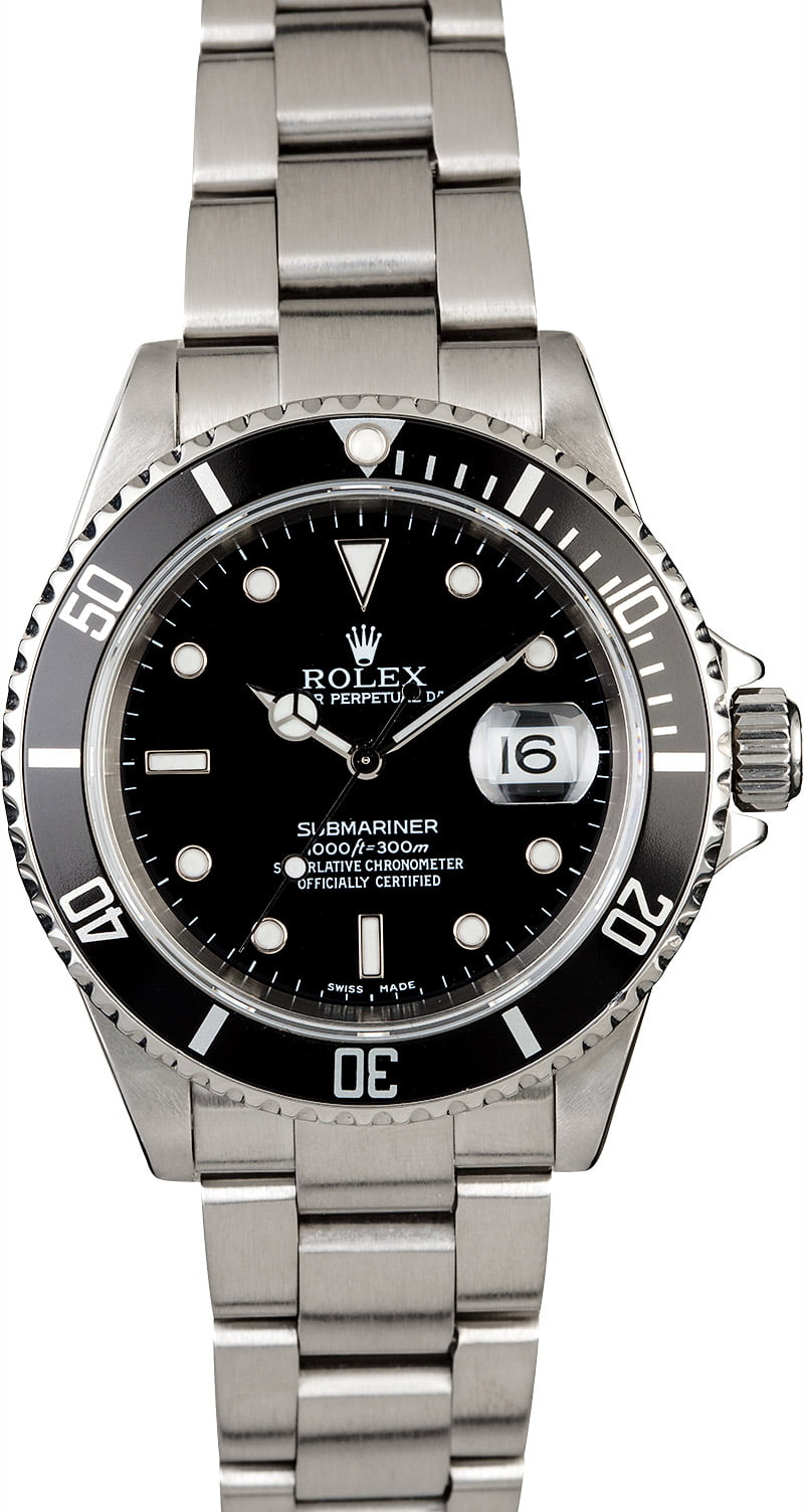 rolex submariner stainless steel 16610 watch. Black Bedroom Furniture Sets. Home Design Ideas