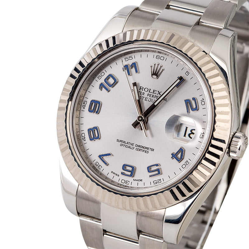 f716ba3405a Used Rolex Datejust 116334 Lilac Arabic Hour Markers