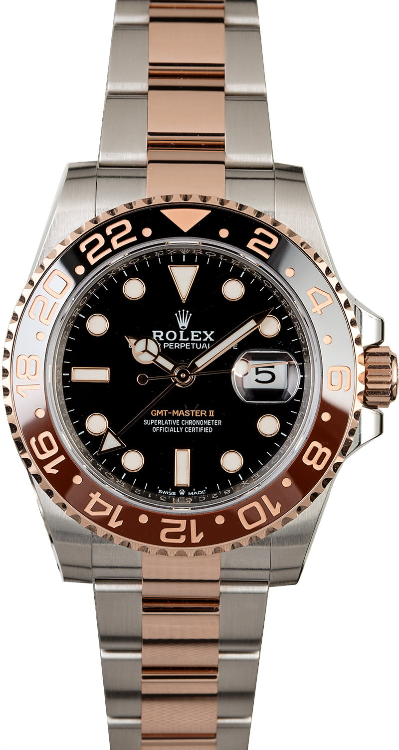 Jewelry & Watches Collection Here Gmt-master Ii Root Beer Everose Gold Watch 126711chnr Insert Bezel Fits Rolex