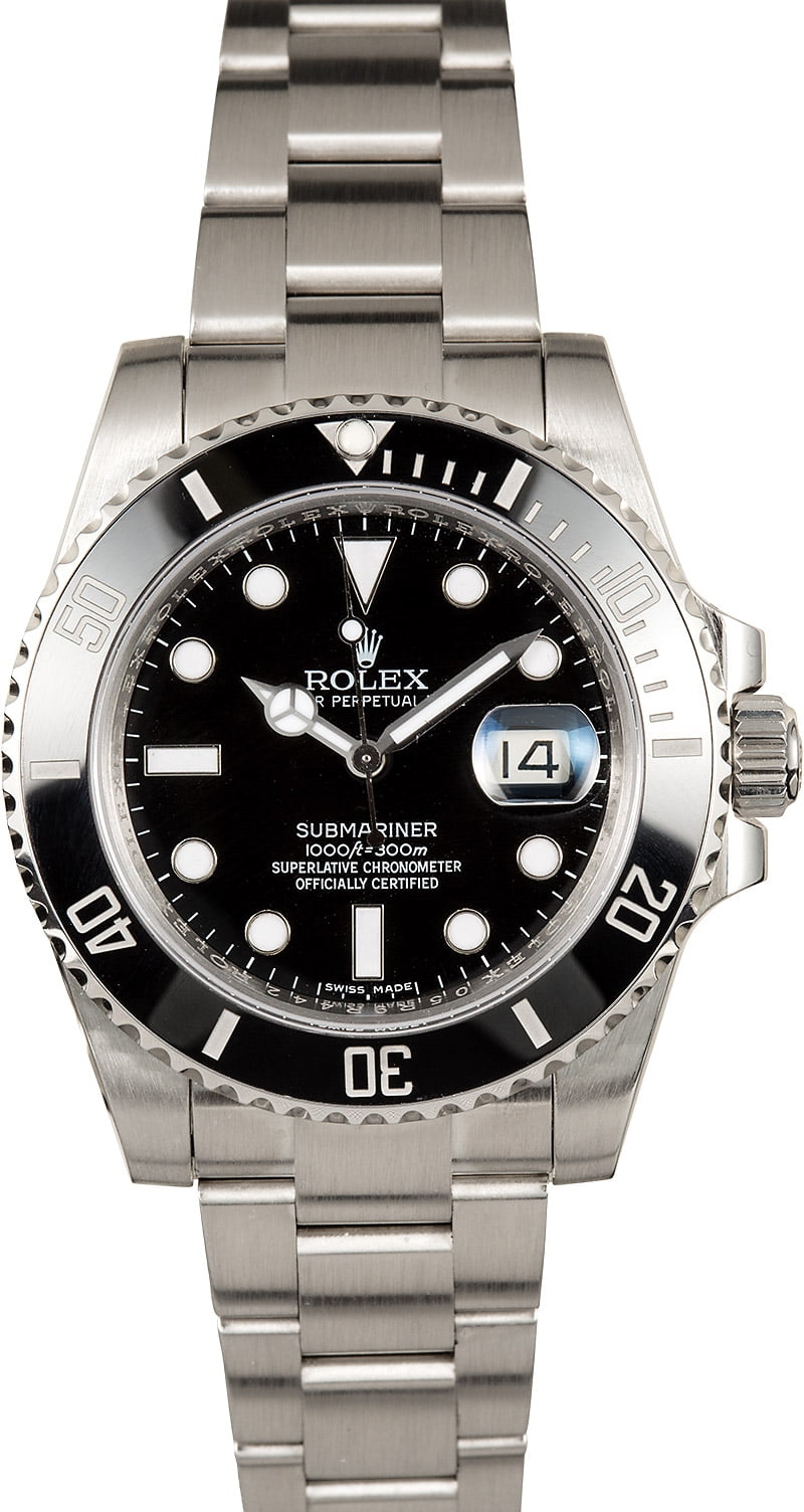 Used rolex submariner watch 116610ln for Submarine watches