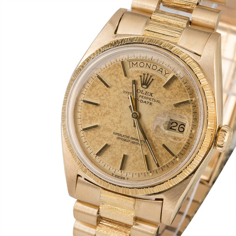 Rolex Vintage President 1807 Bark Finish Certified PreOwned