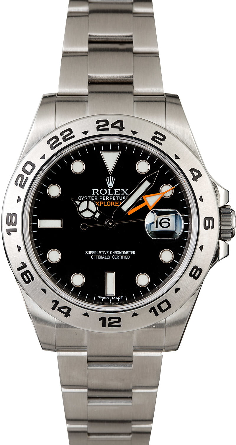 preowned rolex explorer ii ref 216570 steel watch