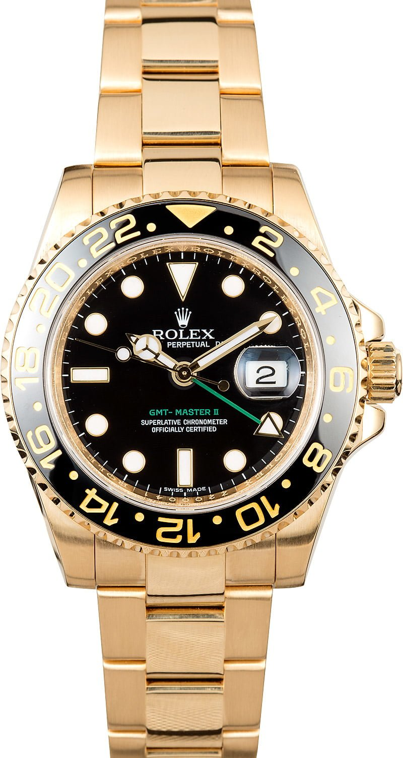 Rolex gmt master ii 18k gold save 5 000 ships next day for Rolex gmt master