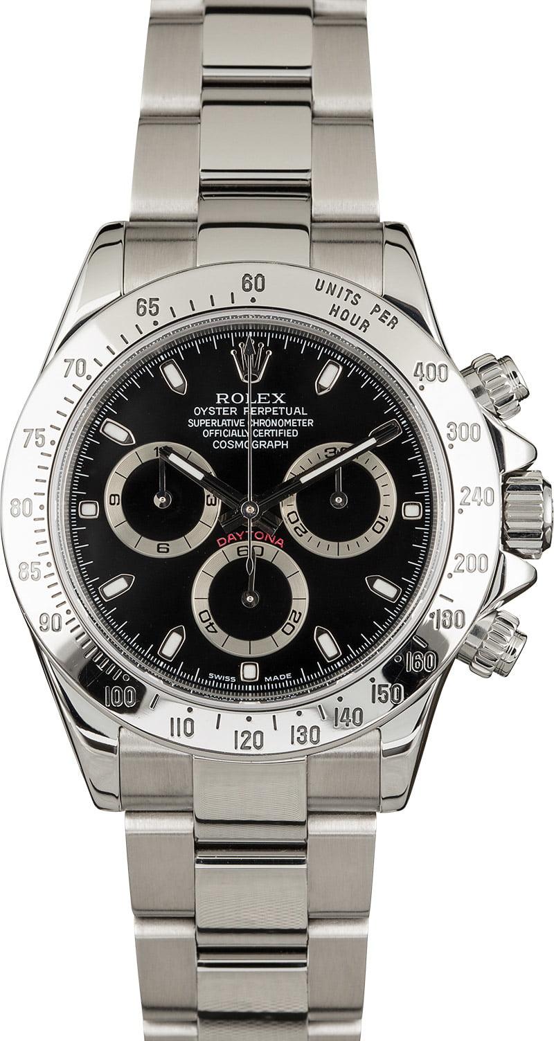 Used Rolex Daytona 116520 Steel Men S Watch
