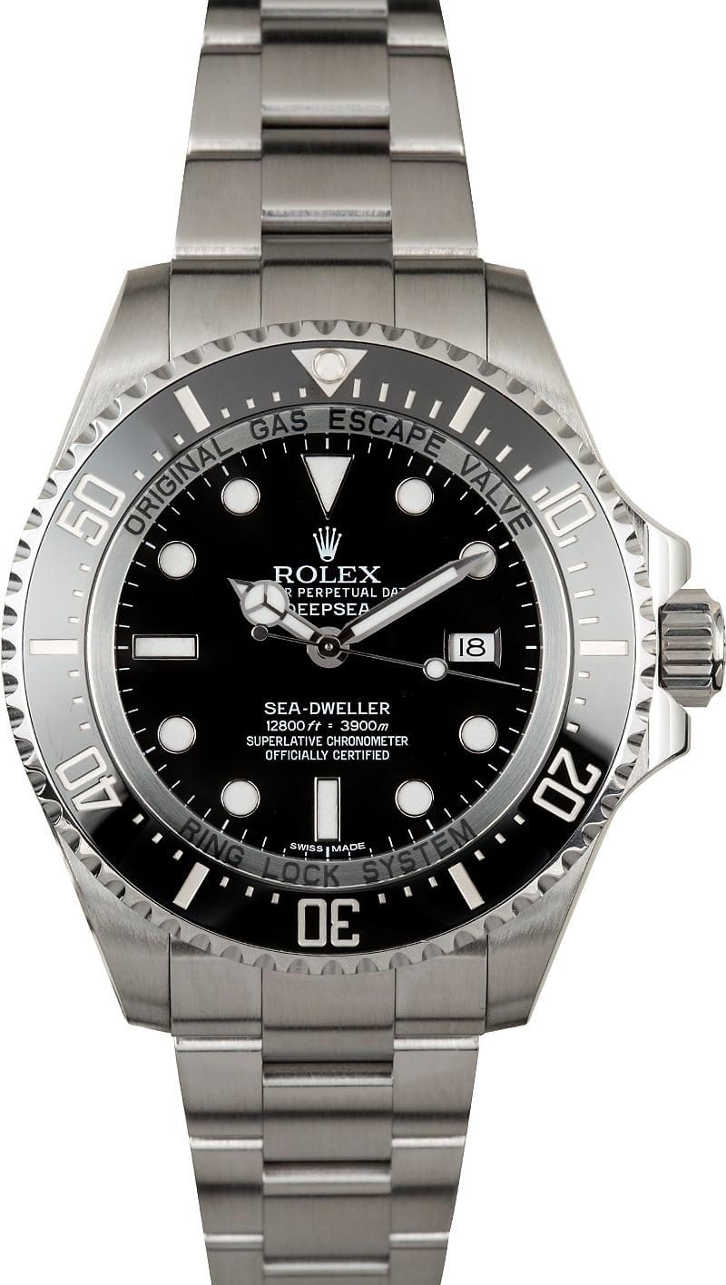 Used rolex sea dweller deepsea 116660 ceramic model for Rolex sea wweller