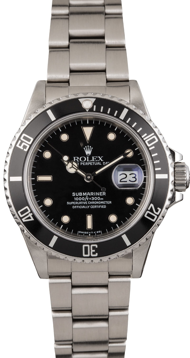 PreOwned Rolex Submariner 16800 Steel 40MM Case