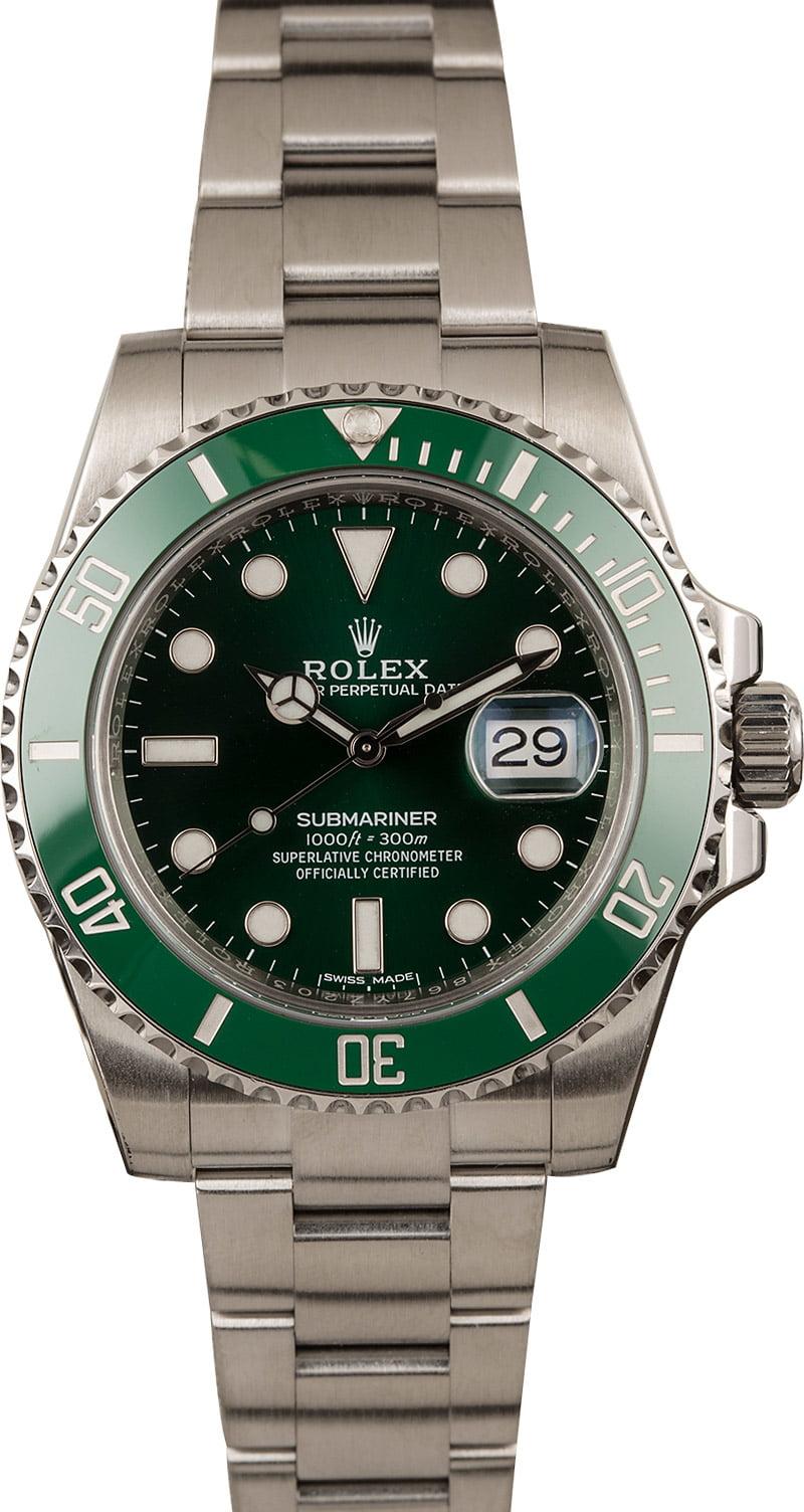Rolex Hulk Submariner Submariner Green 116610v Anniversary