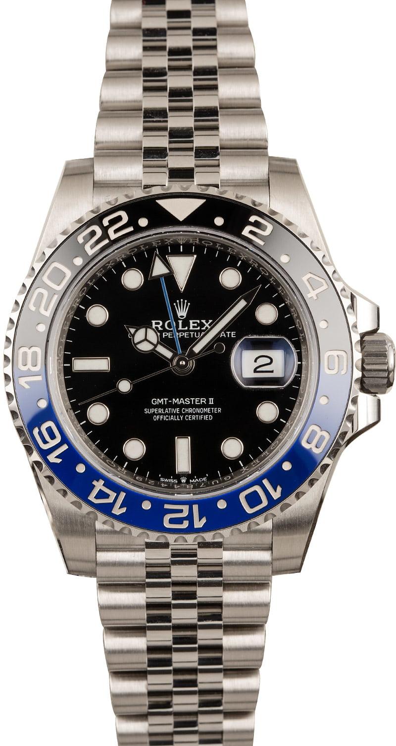 Rolex Gmt Master Ii Blue Black Bezel For Sale Bob S Watches
