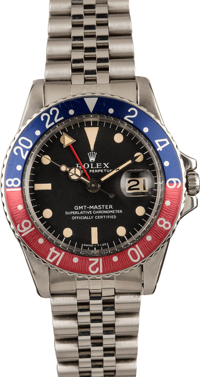 Vintage 1968 Rolex GMT 1675 \u0027Pepsi\u0027 Insert