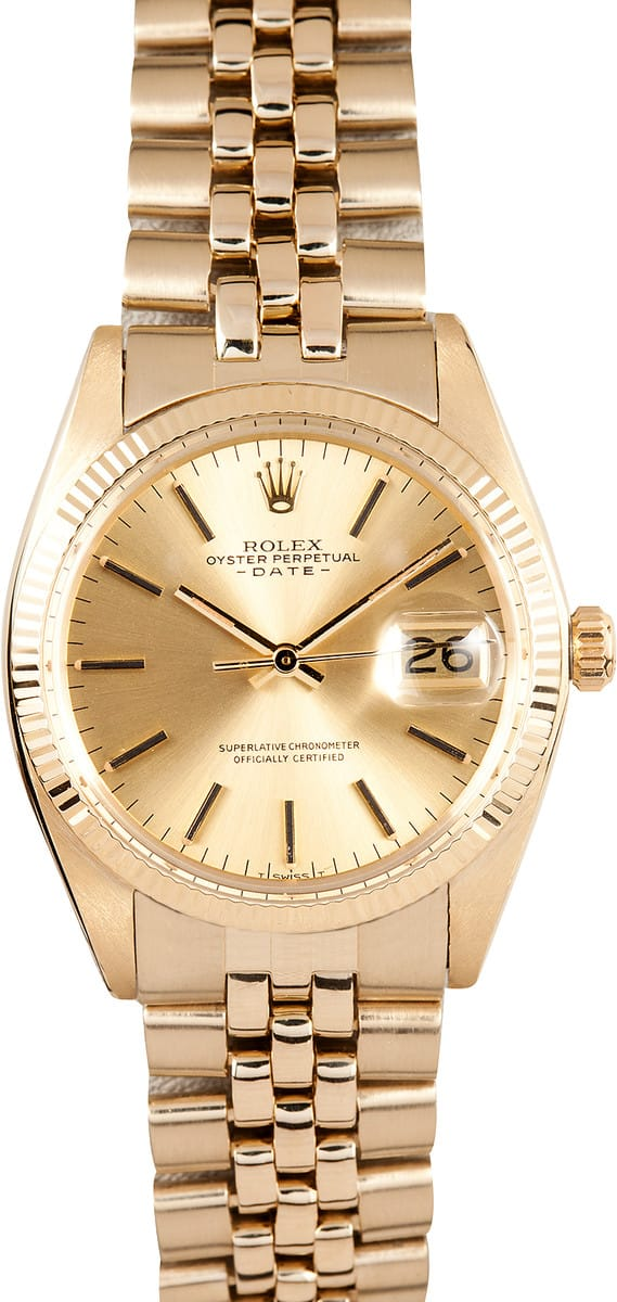 rolex date 1503 all gold save 50 at bob s watches
