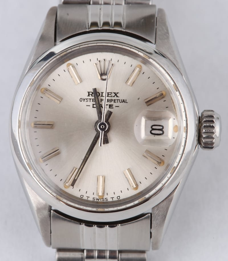 Vintage ladies rolex oyster silver dial 6516 certified 100 for Vintage rolex oyster