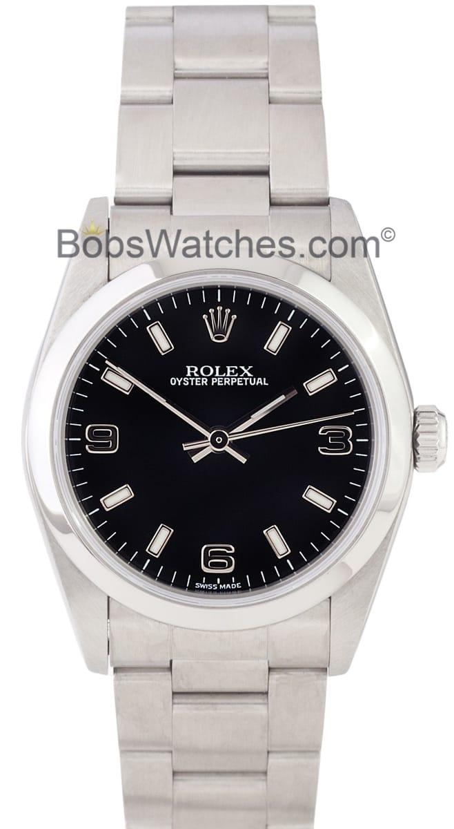 Used Rolex Submariner >> Rolex Men's or Ladies Rolex Oyster Perpetual Midsize 77080