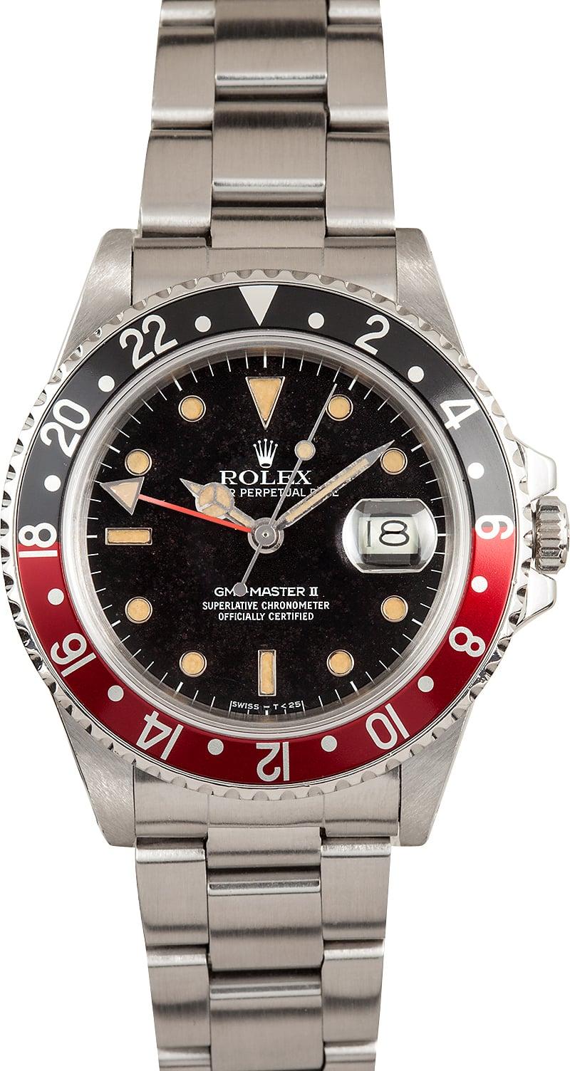 Certified Pre Owned >> Rolex Vintage GMT-Master II Coke Bezel 16760 - Low Price ...