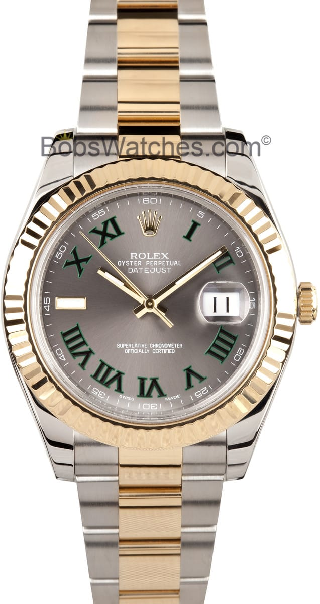 d40fee874bf Pre-owned Rolex Oyster Perpetual DateJust II 116333 - Save At Bob s ...