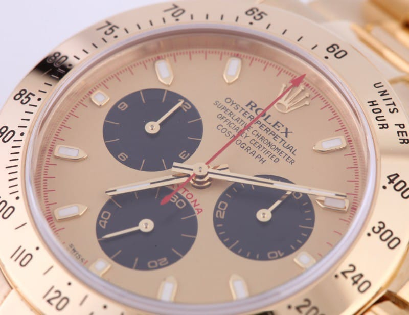 Rolex Daytona Yellow Gold 116528 is deeply tied to the race track.