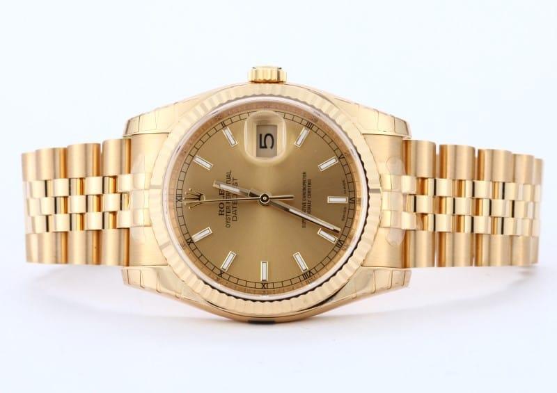 New Rolex 18k Gold Datejust 116238