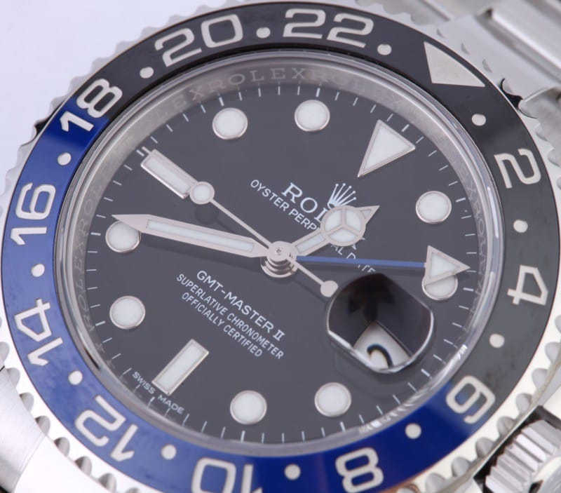 bezel and dial rolex gmt 116710BLNR