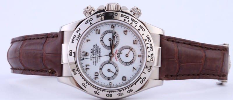 Rolex Daytona 116519 White Arabic Dial