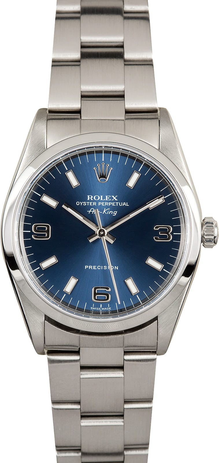 Rolex air king 14000 blue dial stainless for Rolex air king