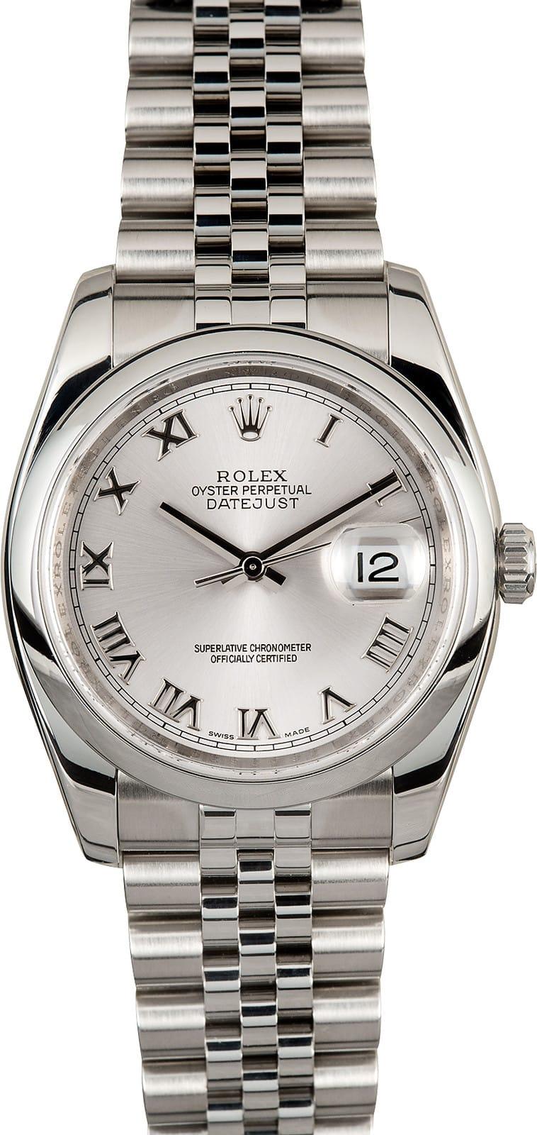 Vintage Tudor Watches >> Rolex Datejust Stainless 116200