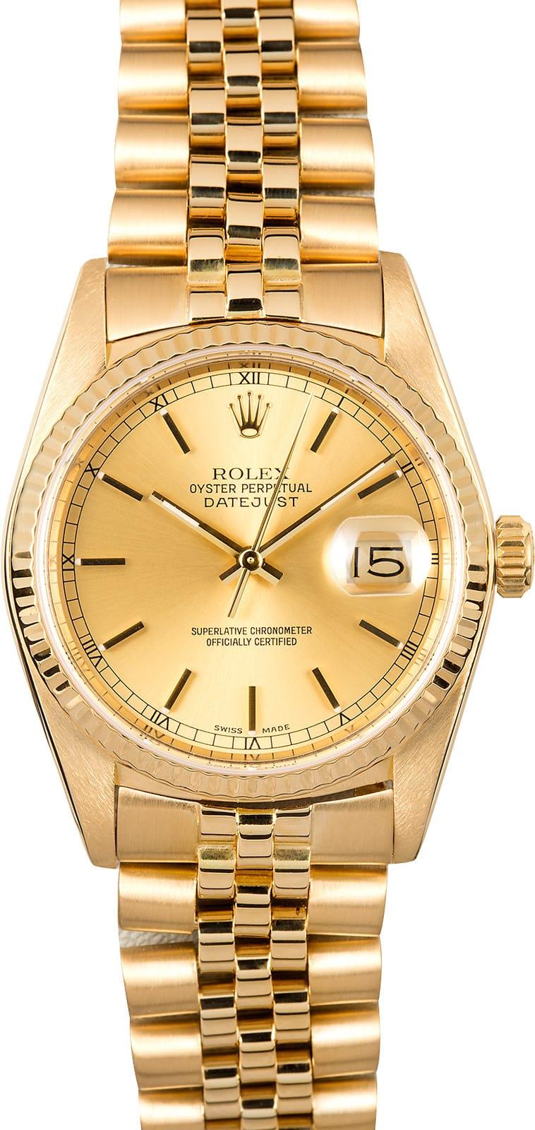 Rolex Datejust 16018 Yellow Gold