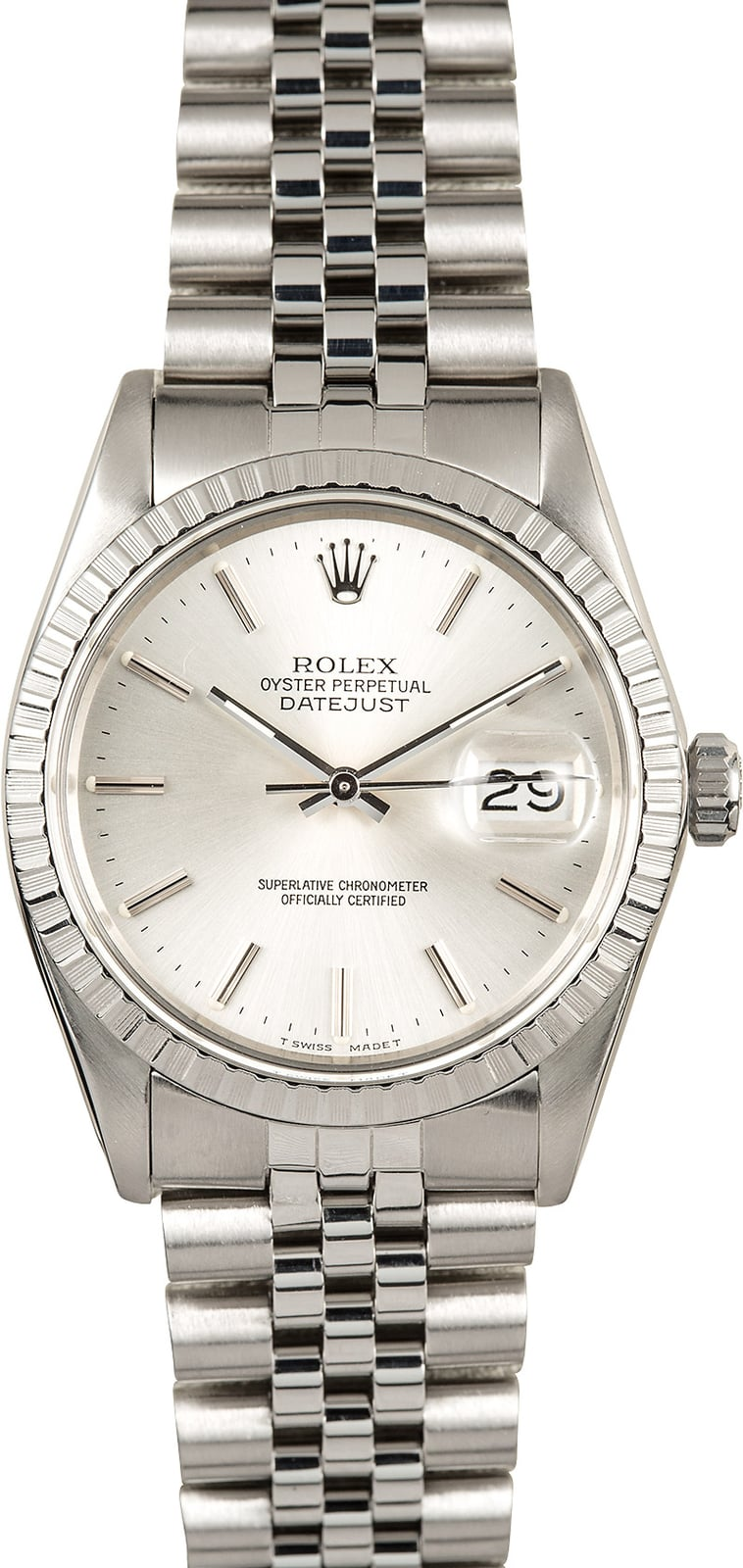 Used Mens Rolex >> Mens Rolex Datejust 16030 Silver Dial