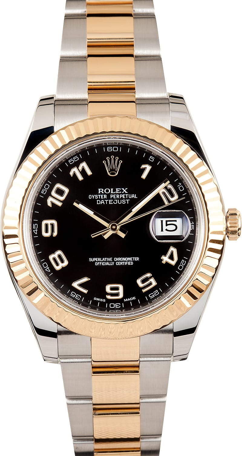rolex datejust ii 116333 at bob 39 s watches 100 authentic. Black Bedroom Furniture Sets. Home Design Ideas