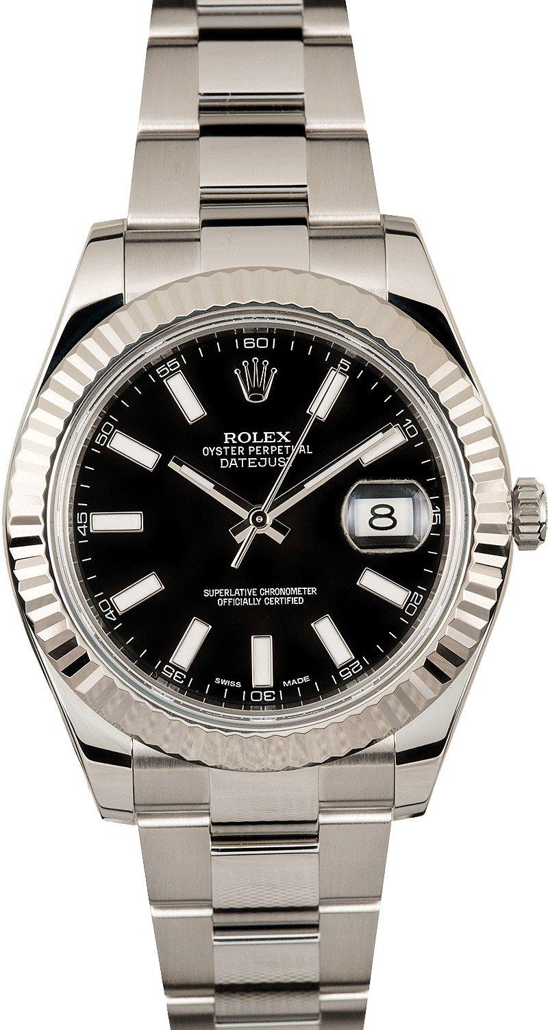 Rolex DateJust 2 Black Luminous Dial 116334
